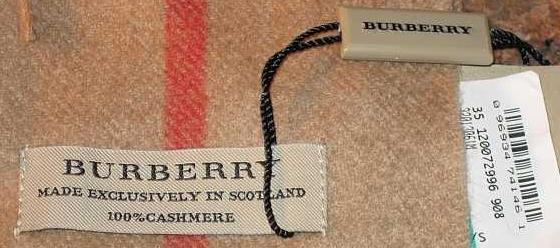 Below Is An Image Of A Fake Burberry