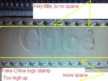 fake chloe label