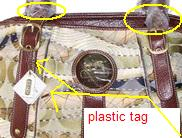 coach diaper bag tag