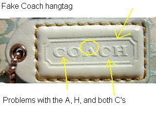 Note The Font In Above Hangtag Is Horrible A Does Not Have Famous Top Point But That Even Worst Of It Second C Coach