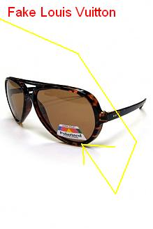 56b46098977e Spot Fake Louis Vuitton Sunglasses