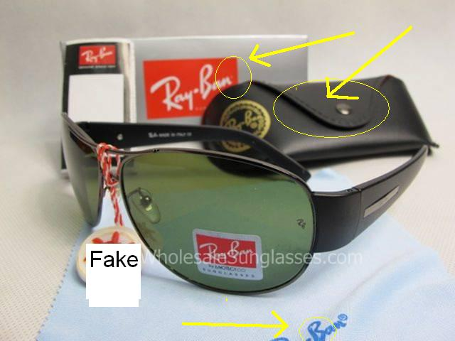 authentic ray bans  Spot Fake Ray Ban Sunglasses