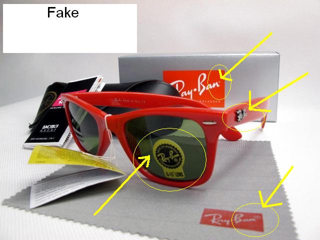 ray ban wayfarer imitation  Spot Fake Ray Ban Sunglasses