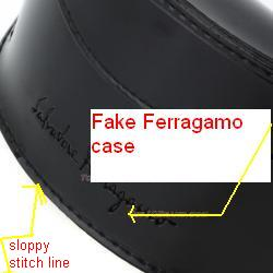 Fake salvatore sunglasses patent leather case
