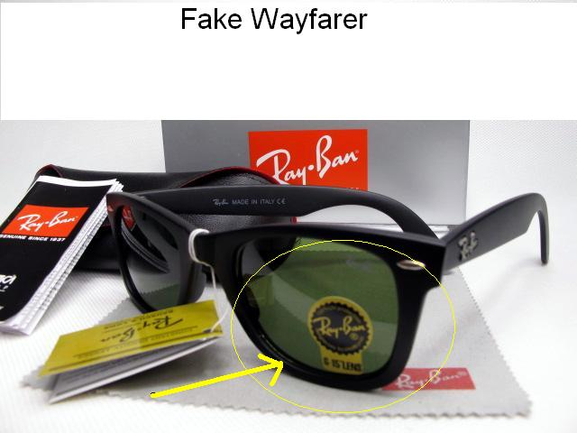duplicate sunglasses  Spot Fake Ray Ban Sunglasses