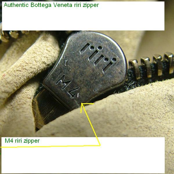 Authentic Riri M4 Zipper Bottega Veneta