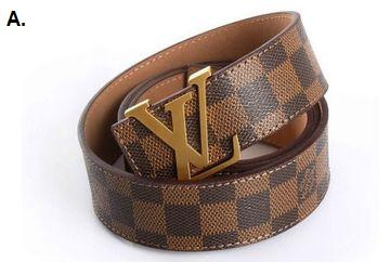 Authentic Louis Vuitton LV belt photo