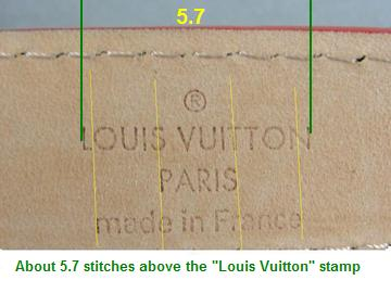 Louis Vuitton LV belt stitching