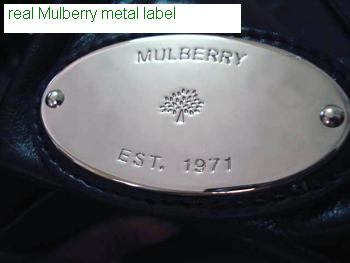 authentic Mulberry Poppy handbag logo