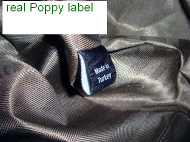 real mulberry Poppy label