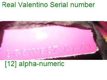 authentic Valentino serial number